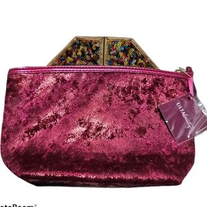 4 FOR $25 ULTA BEAUTY METALLIC BEAUTY BAG